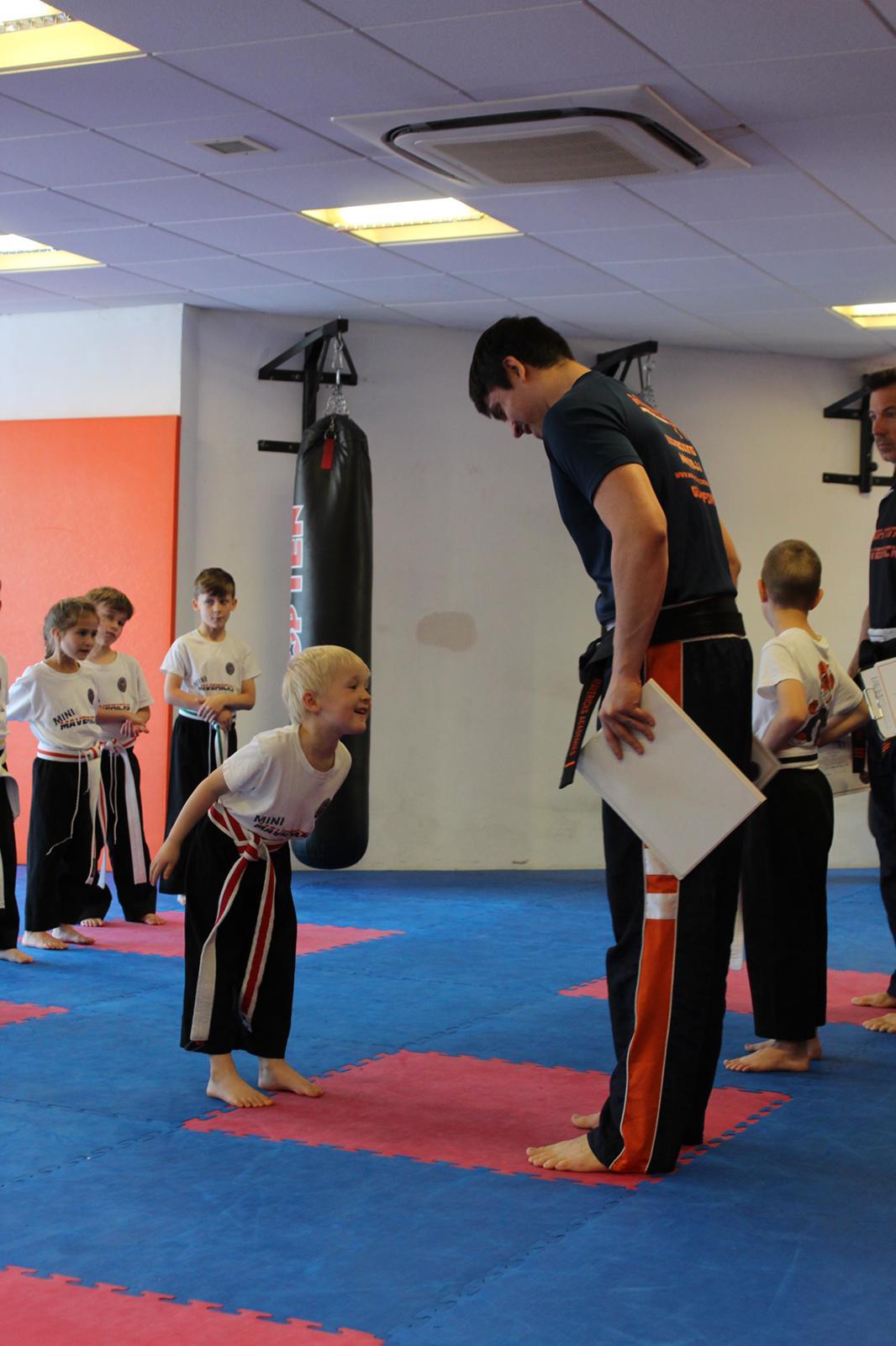 Kids Kickboxing at Mavericks Martial Arts in Guildford, Surrey.
