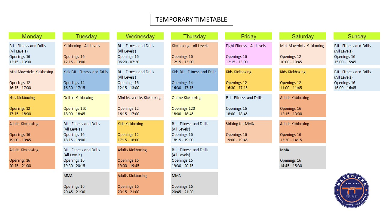 Temporary Timetable