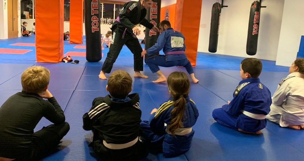 children training BJJ in Guildford, UK
