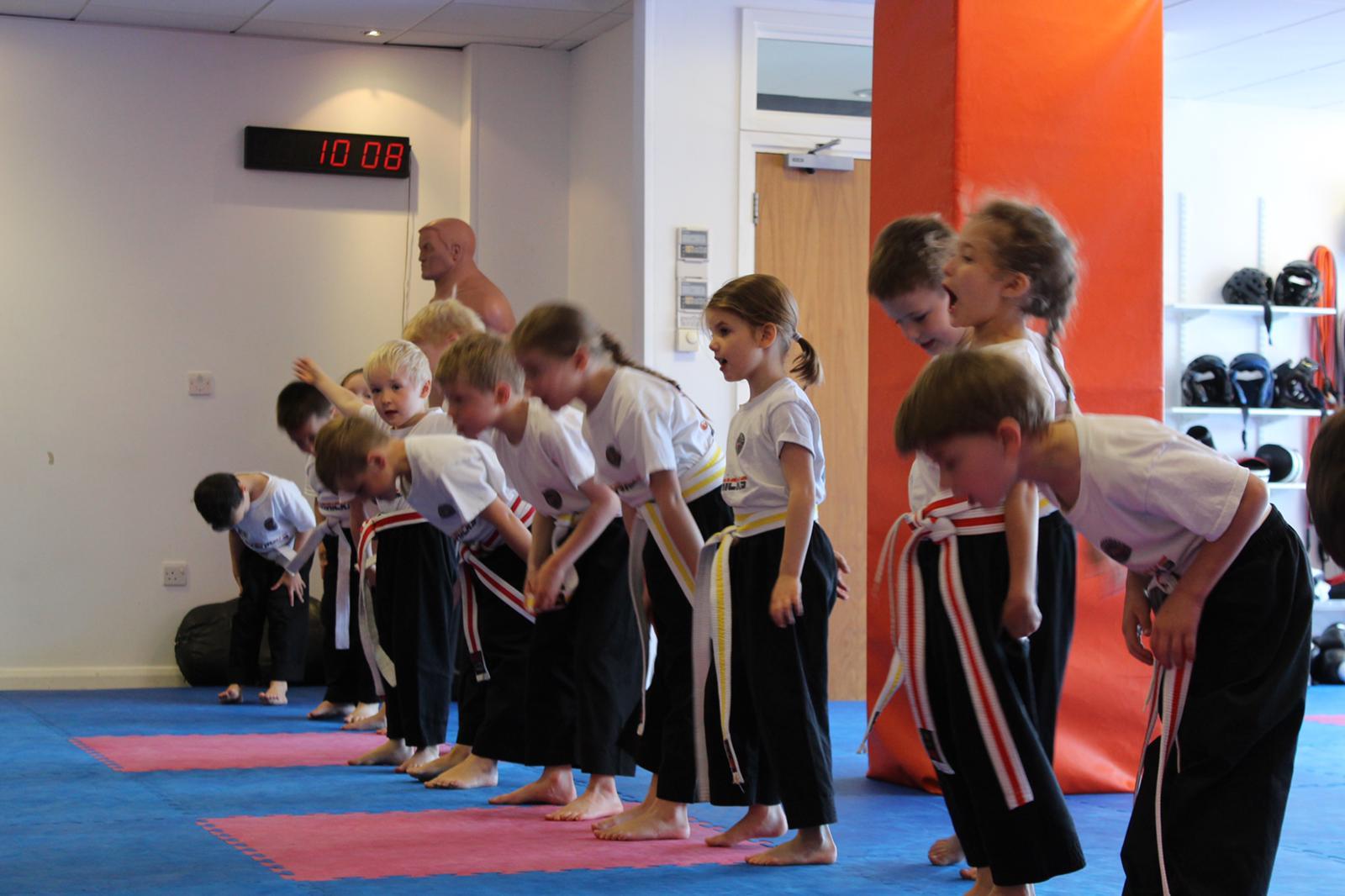 Kids training at Mavericks Martial Arts in Guildford